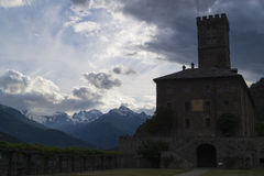 Royal castle in Sarre, Aosta. One of the biggest castle in valley Royalty Free Stock Photography