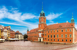 Royal Castle and Sigismund Column in Warsaw Royalty Free Stock Photos