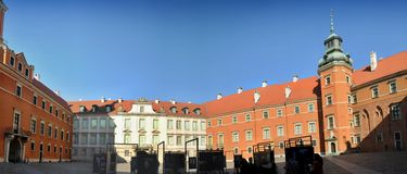 Royal Castle square  in Warsaw Poland. Royalty Free Stock Photos
