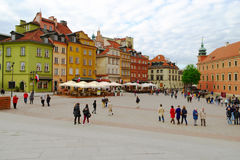 Royal Castle square in Warsaw's Old Town, Poland Royalty Free Stock Photo