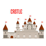 Royal castle with towers and curtain walls Royalty Free Stock Images