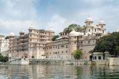 Royal Castle, Udaipur, India. The dominating Royal Castle or Palace of Udaipur, Rajasthan India stock photo
