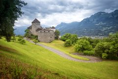 Schloss Vaduz Stock Photography