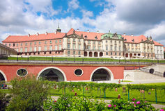 Royal Castle in Warsaw. Closeup to East side view, Kubicki Arcades of the Warsaw's Royal Castle (14th century), residence of the Polish monarchs. Old Town  in Royalty Free Stock Image