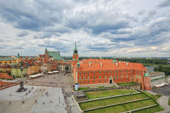 Royal Castle, Warsaw. Aerial view of Warsaw Royal Castle and Old Town, Poland royalty free stock photos