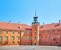 Royal castle in Warsaw. The courtyard of the royal castle in Warsaw, Poland stock photo