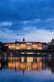 Royal Castle in Warsaw at Dusk. Royal Castle in city of Warsaw, Poland at dusk with reflection on Vistula River, Baroque and Mannerist architecture Royalty Free Stock Photography