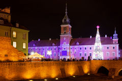 Royal Castle in Warsaw at Night Royalty Free Stock Image