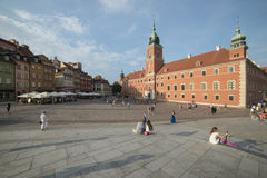 The royal castle warsaw poland europe Royalty Free Stock Images