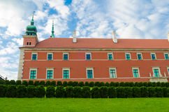 Royal Castle in Warsaw, Poland. It is located in the Castle Square, at the entrance to the Warsaw Old Town Stock Image
