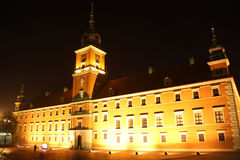 Royal castle in Warsaw (Poland) at night Royalty Free Stock Photo