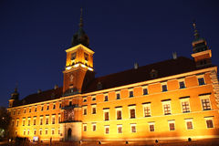 Royal castle in Warsaw (Poland) at night Stock Photography