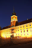 Royal castle in Warsaw (Poland) at night Royalty Free Stock Image