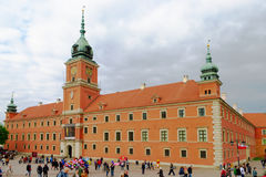 The Royal Castle in Warsaw, Poland. The Royal Castle in Warsaw (Polish: Zamek Krolewski) was the official residence of the Polish monarchs. It is located in the stock image