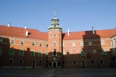 The Royal Castle in Warsaw. Is a castle residency that formerly served throughout the centuries as the official residence of the Polish monarchs Stock Photos