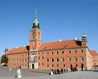 The Royal Castle in Warsaw Stock Images