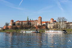 The Royal Castle at the Wawel Hill Stock Image