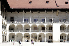 Royal Castle on Wawel Hill of Krakow in Poland Stock Photo