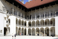 Royal Castle on Wawel Hill of Krakow in Poland Stock Photos