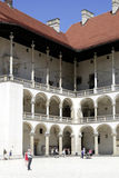 Royal Castle on Wawel Hill of Krakow in Poland Royalty Free Stock Image