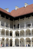Royal Castle on Wawel Hill of Krakow in Poland Royalty Free Stock Photos