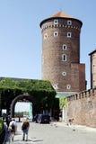 Royal Castle on Wawel Hill of Krakow in Poland Stock Photo