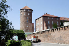 Royal Castle on Wawel Hill of Krakow in Poland Stock Photography