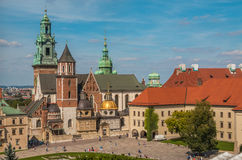 Royal Castle Wawel in Krakow Poland Royalty Free Stock Image
