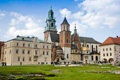 Wawel castle. Royal castle Wawel in Krakow, Poland Stock Photos