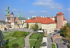 Royal Castle Wawel - panorama Royalty Free Stock Images