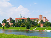 Royal castle in Wawel, Poland Royalty Free Stock Photo