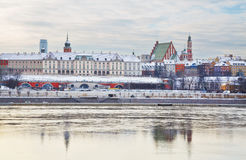 Royal Castle at winter in the Old Town of Warsaw, Poland. Royalty Free Stock Image