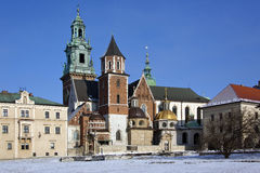 Royal Cathedral - Wawel Hill - Krakow - Poland. The Royal Cathedral on Wawel Hill within the grounds of Wawel Castle in Krakow in Poland. The cathedral features Stock Photos