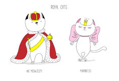 Royal cats Stock Images
