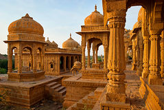 The royal cenotaphs of historic rulers, also known as Jaisalmer Stock Photography