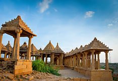 The royal cenotaphs of historic rulers, Jaisalmer Chhatris Royalty Free Stock Photo