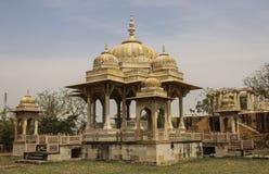 Royal cenotaphs in Jaipur, Rajasthan, India.The royal cremation Stock Photos