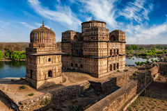 Royal cenotaphs of Orchha, India Royalty Free Stock Images