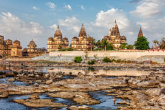 Royal cenotaphs of Orchha,  Madhya Pradesh, India Royalty Free Stock Image