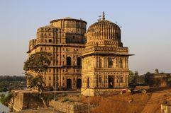 Royal cenotaphs of Orchha. Orchha, Madhya Pradesh, India Stock Images