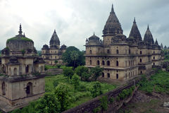 Royal cenotaphs of rulers of Orchha Stock Photo