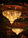 Royal Chandeliers. A beautiful picture of chandeliers in an old Indian royal temple Stock Photography