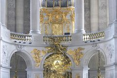 Royal chapel, palace of Versailles Stock Image