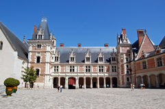The Royal Chateau de Blois. Is located in the Loir-et-Cher département in the Loire Valley, in France. The residence of several French kings, it is also the Royalty Free Stock Image