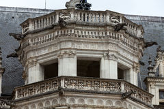 The Royal Chateau de Blois. Spiral staircase in the Francis I wing stock photos