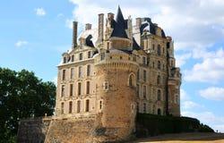 The royal chateau de Brissac, Loire. Beautiful Chateau de Brissac, romantic medieval castle in the Loire valley stock photography