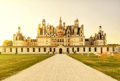 The royal Chateau de Chambord, castle in France Royalty Free Stock Photography