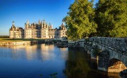 The royal Chateau de Chambord, France. Royalty Free Stock Photo