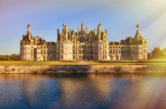 The royal Chateau de Chambord, France. This castle is located in the Loire Valley Stock Image