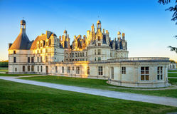 The royal Chateau de Chambord, France. Royalty Free Stock Photography